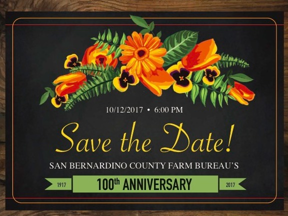 San Bernardino County Farm Bureau's 100th Anniversary - Annual Meeting & Awards Dinner